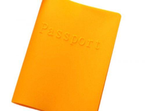 防水彩色矽膠護照套