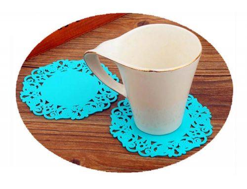 花形矽膠杯墊