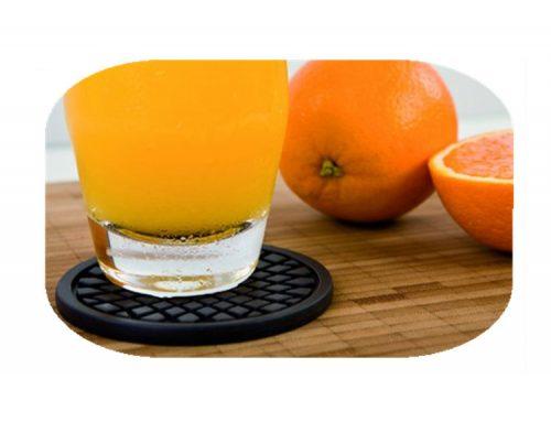 耐用柔性矽膠圓形酒杯墊