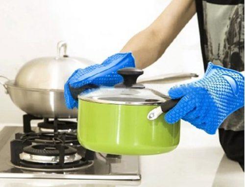 廚房矽膠烤箱手套