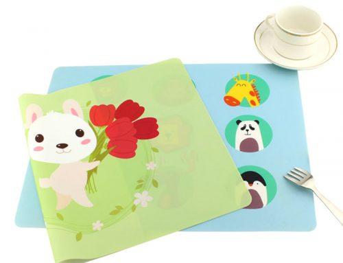 可客訂圖案食品級環保矽膠餐墊